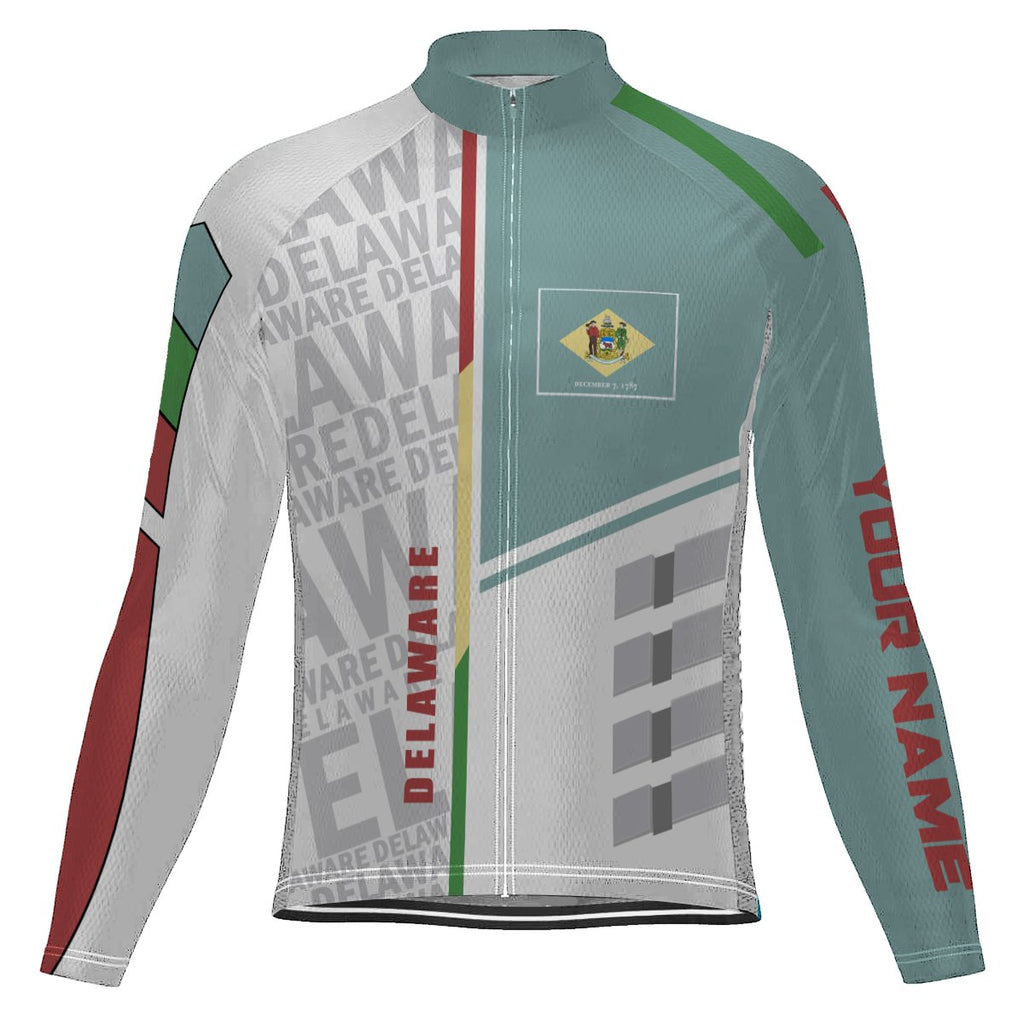 Customized Delaware Long Sleeve Cycling Jersey for Men
