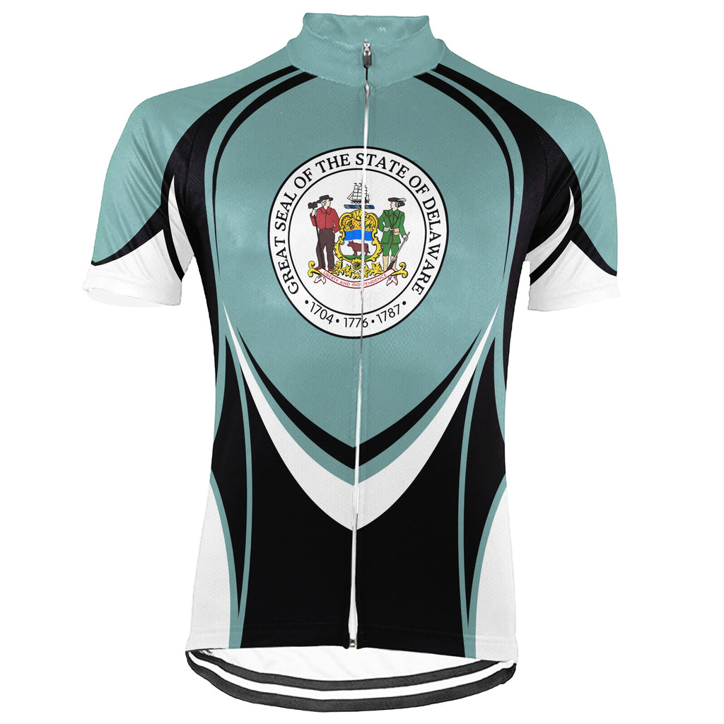 Customized Delaware Short Sleeve Cycling Jersey for Men