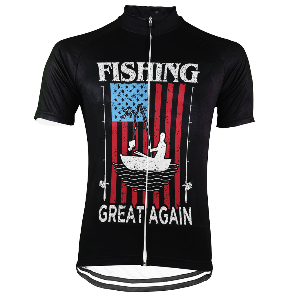 Customized Fishing Short Sleeve Cycling Jersey for Men