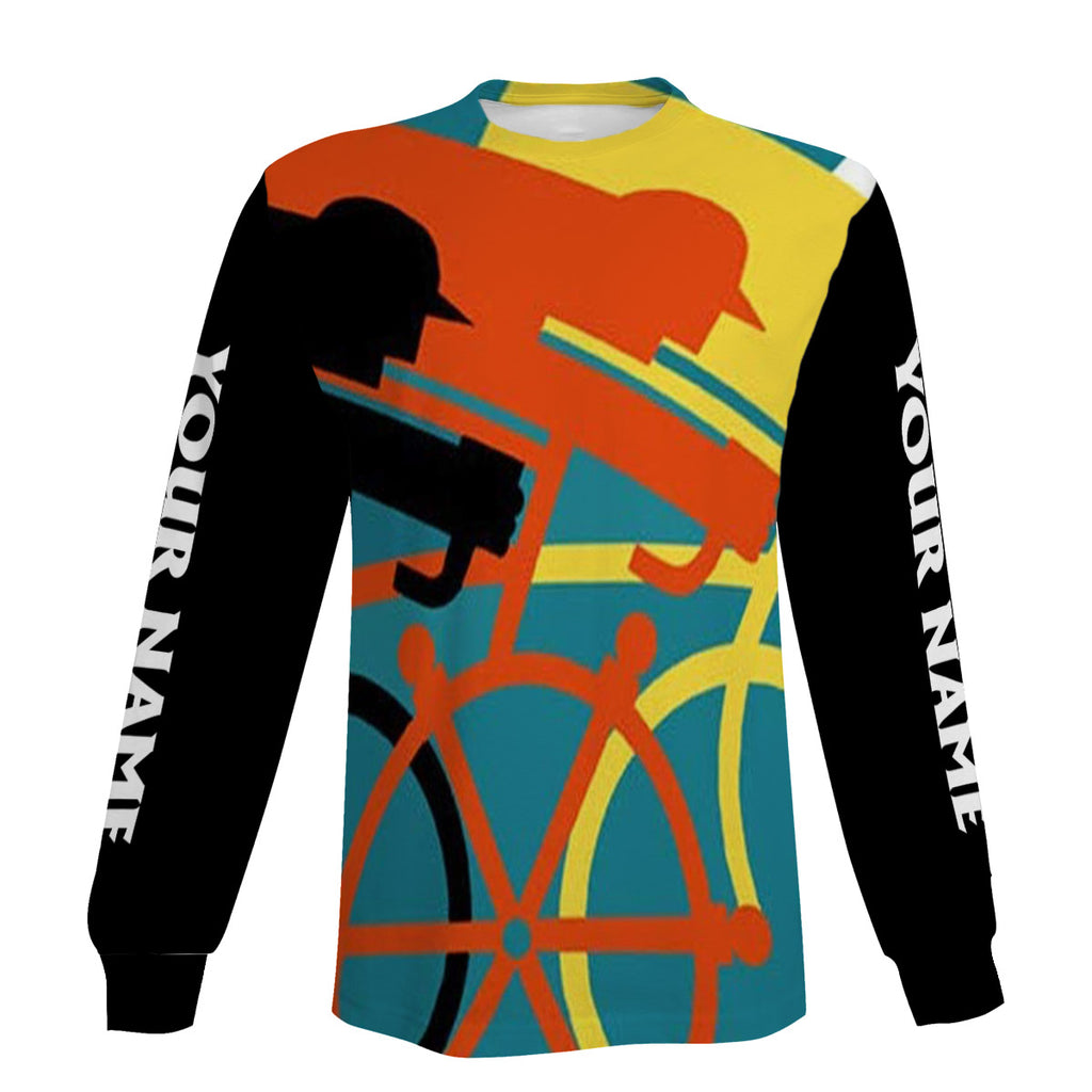 Men's Colorful Personalized Cycling Long Sleeve, Short Sleeve, Zip Up Hoodie, Hoodie Meaningful Gift Ideas