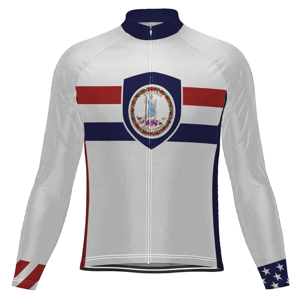 Customized Virginia Long Sleeve Cycling Jersey for Men