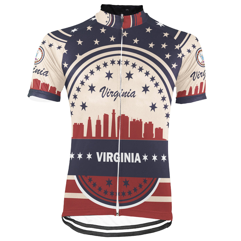 Customized Virgina Short Sleeve Cycling Jersey for Men