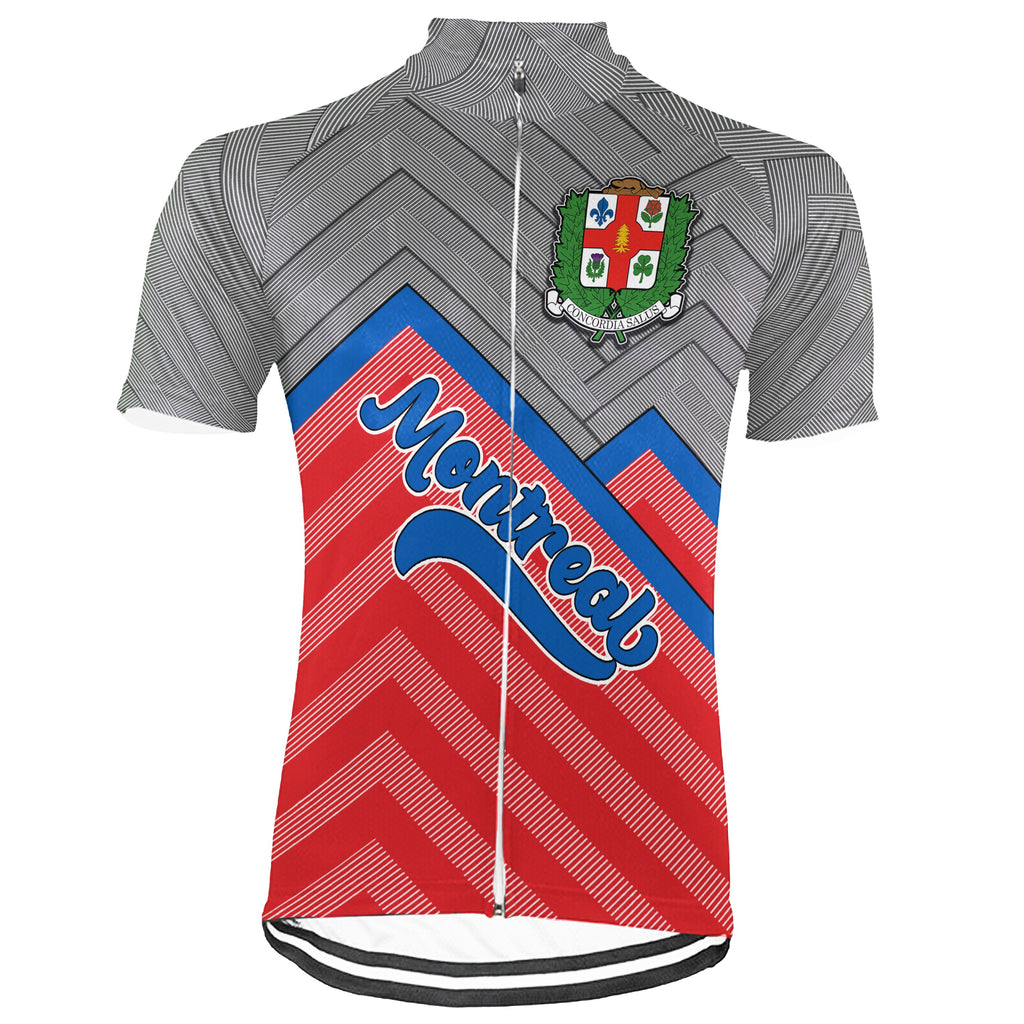 Customized Montreal Short Sleeve Cycling Jersey for Men