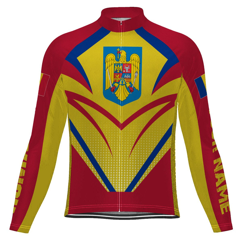 Customized Romania Long Sleeve Cycling Jersey for Men