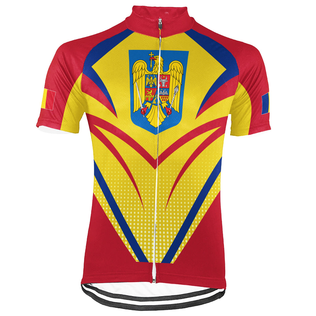 Customized Romania Short Sleeve Cycling Jersey for Men