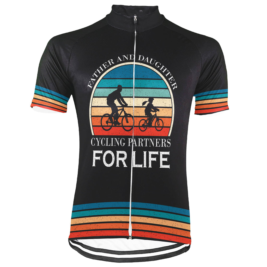 Customized Father And Daughter Short Sleeve Cycling Jersey for Men