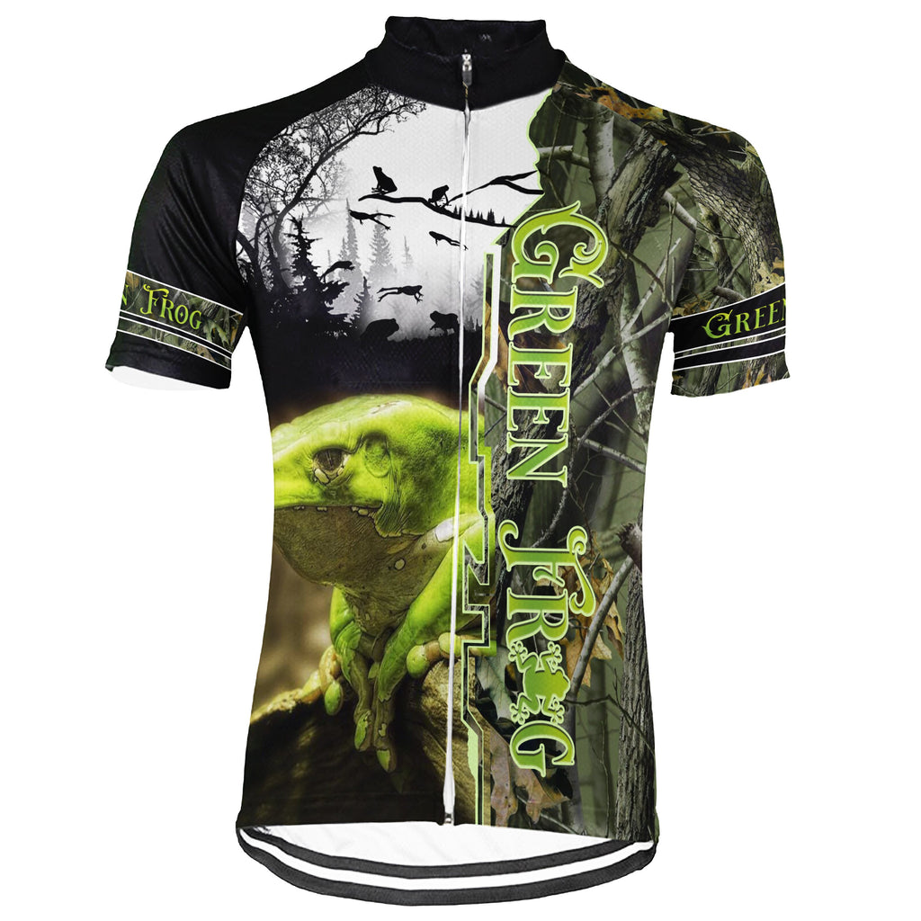 Customized Frog Short Sleeve Cycling Jersey for Men