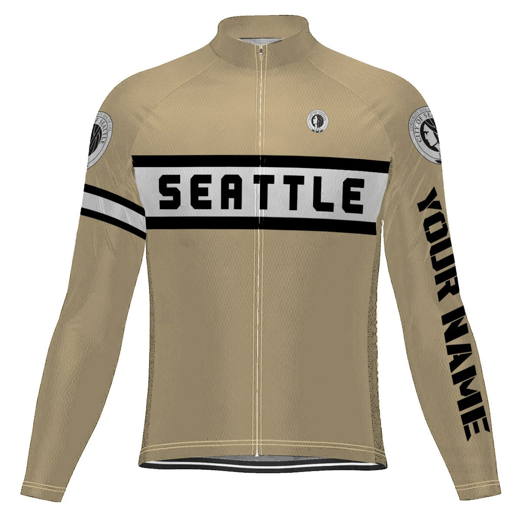 Customized Seattle Long Sleeve Cycling Jersey for Men