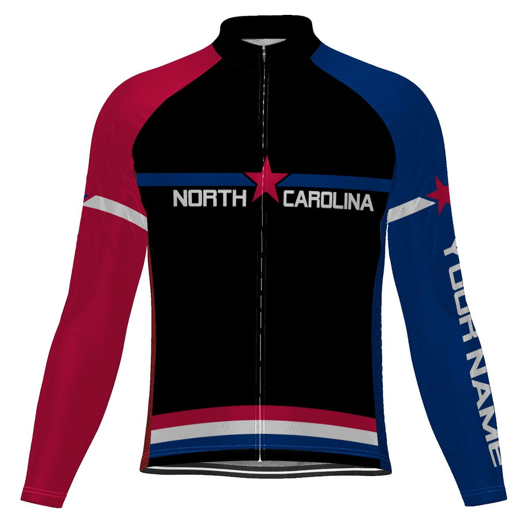 Customized North Carolina Long Sleeve Cycling Jersey for Men