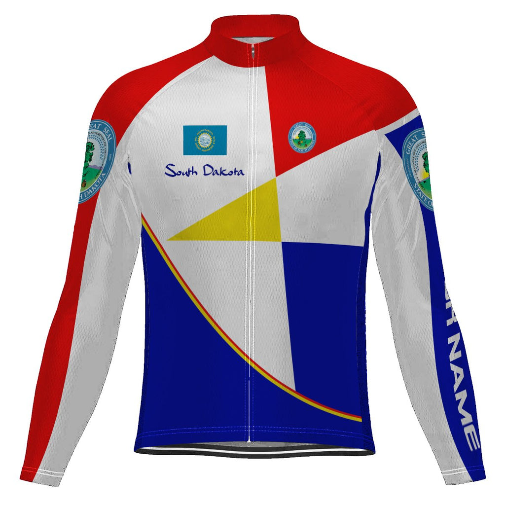 Customized South Dakota Long Sleeve Cycling Jersey for Men