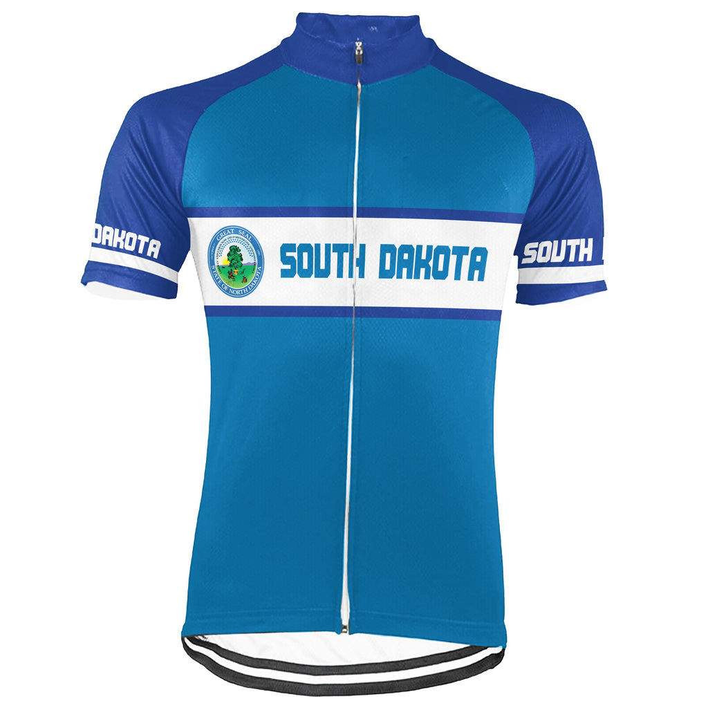 Customized South Dakota Short Sleeve Cycling Jersey for Men