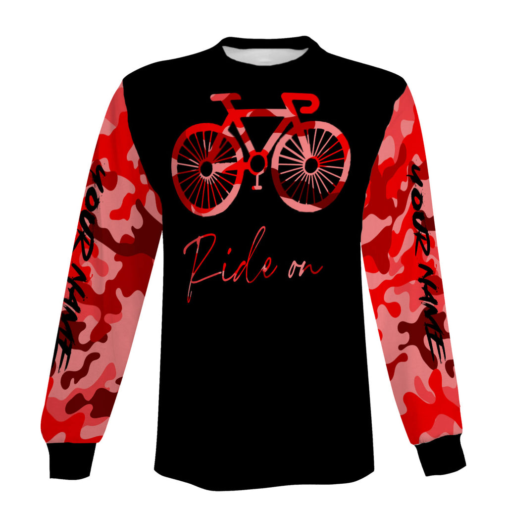 Ride On Biking Jersey Men's Long Sleeve, Short Sleeve, Zip Up Hoodie and Hoodie- Personalized, Comfortable and Breathable Shirt
