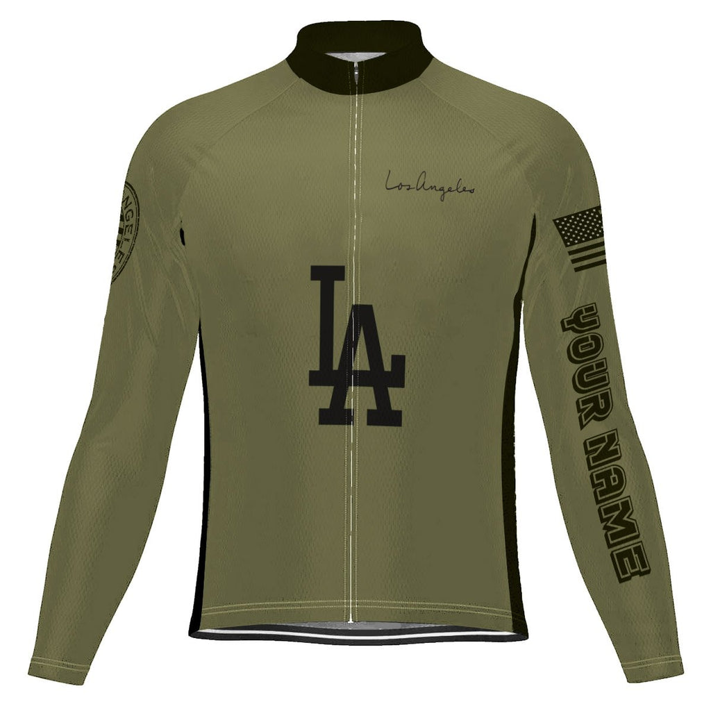 Customized Los Angeles Long Sleeve Cycling Jersey for Men
