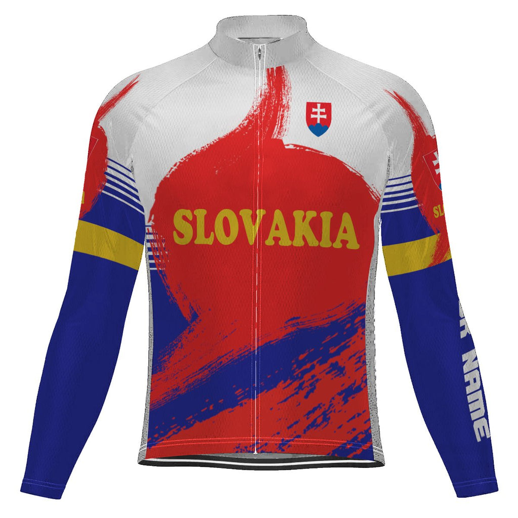 Customized Slovakia Long Sleeve Cycling Jersey for Men