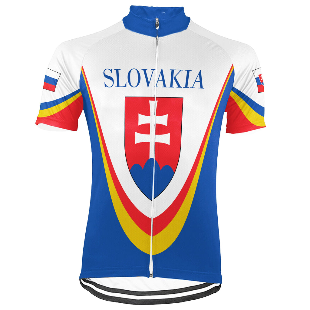 Customized Slovakia Short Sleeve Cycling Jersey for Men