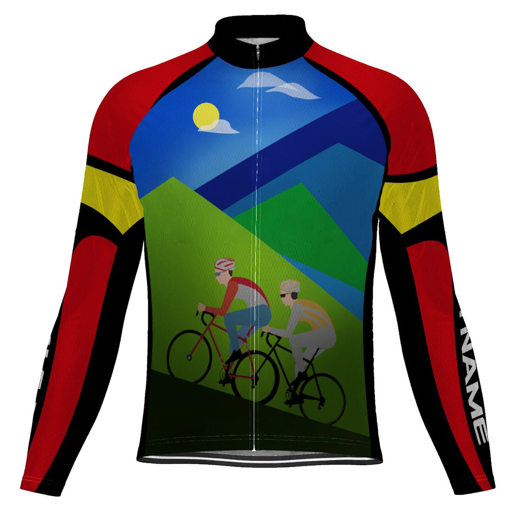 Customized Arkansas Long Sleeve Cycling Jersey for Men