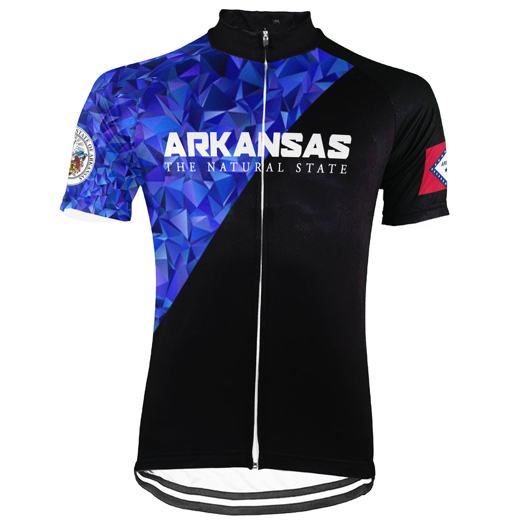 Customized Arkansas Short Sleeve Cycling Jersey for Men