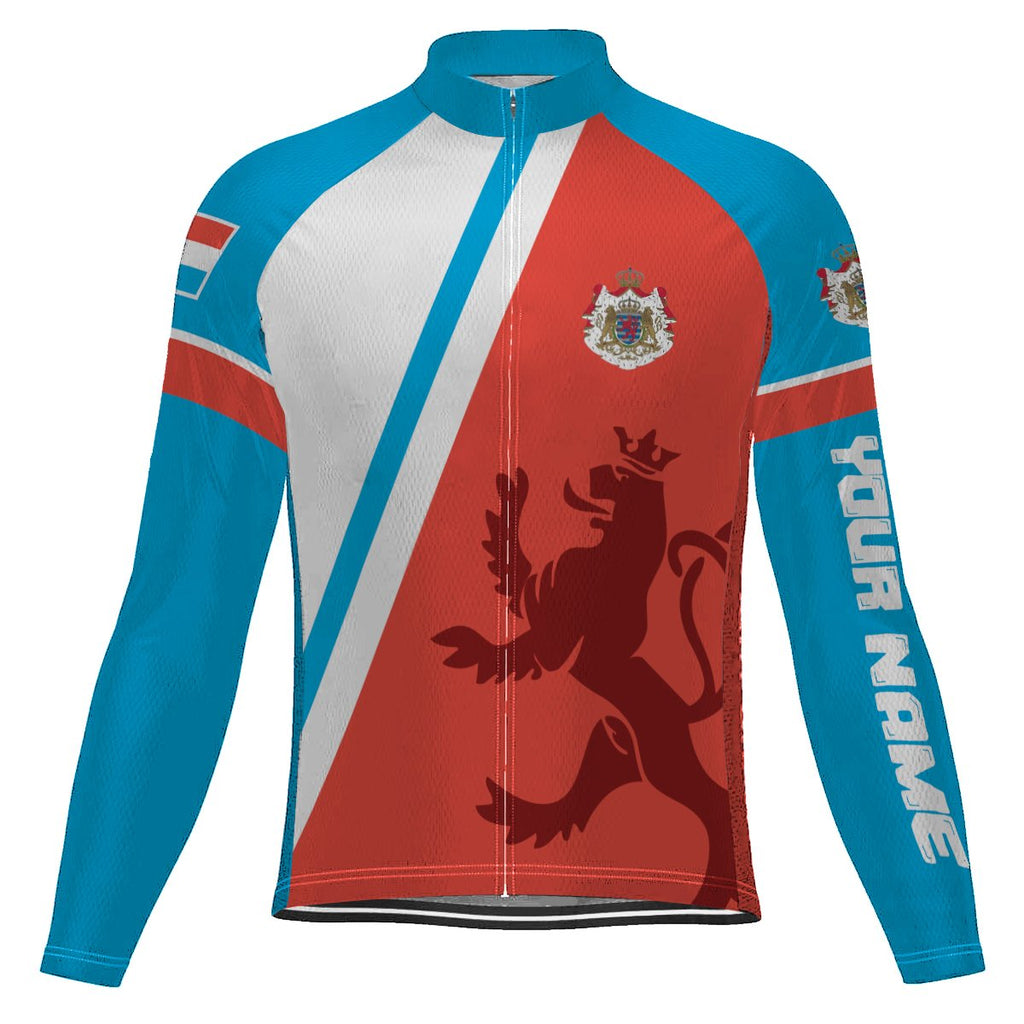 Customized Luxembourg Long Sleeve Cycling Jersey for Men
