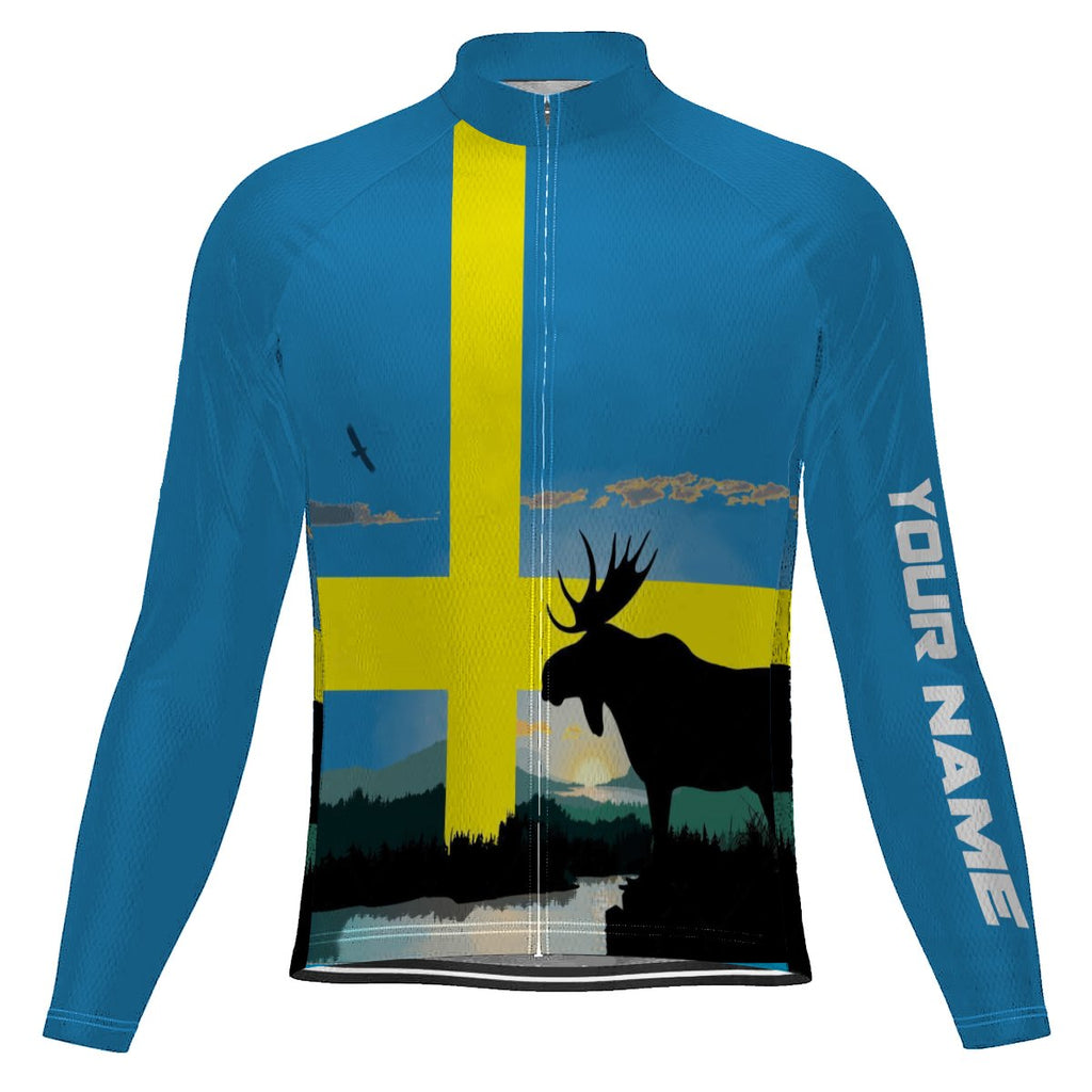 Customized Sweden Long Sleeve Cycling Jersey for Men