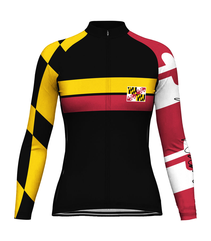 Customized Maryland Winter Thermal Fleece Long Sleeve For Women