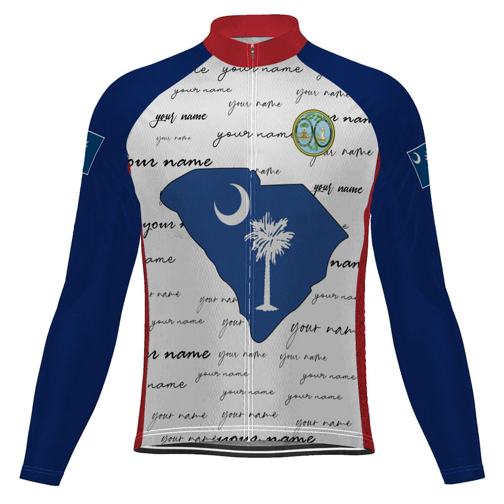 Customized South Carolina Long Sleeve Cycling Jersey for Men