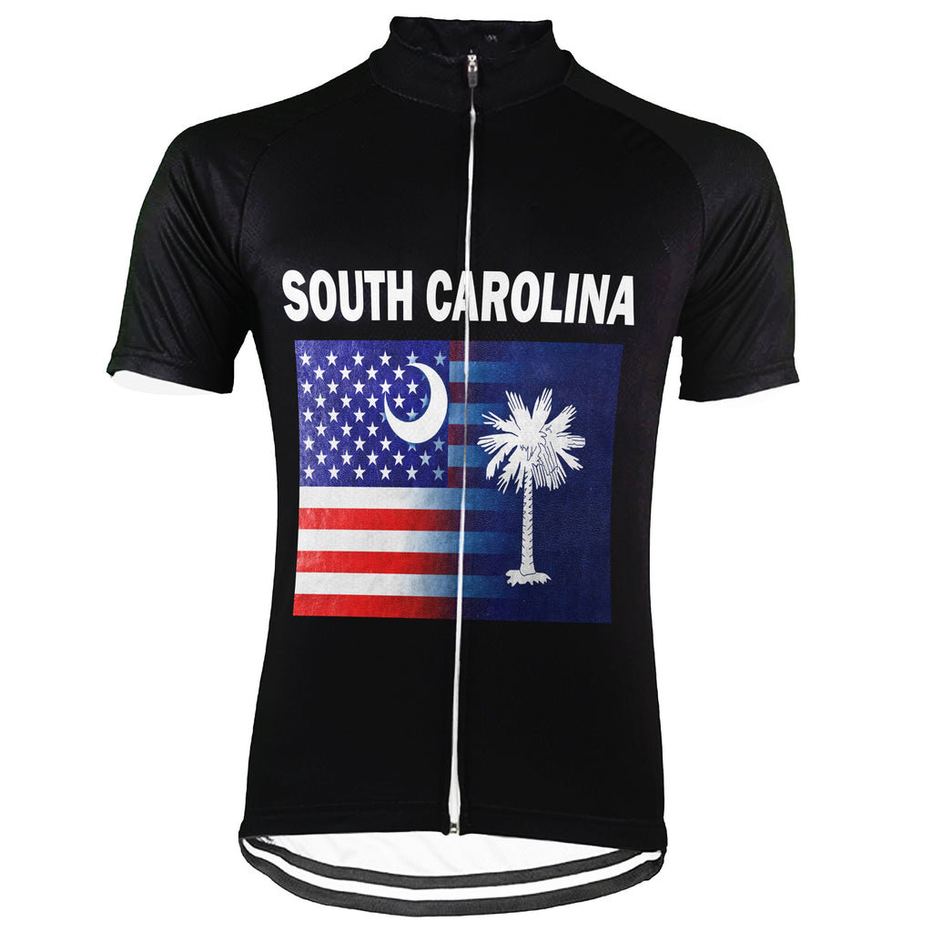 Customized South Carolina Short Sleeve Cycling Jersey for Men