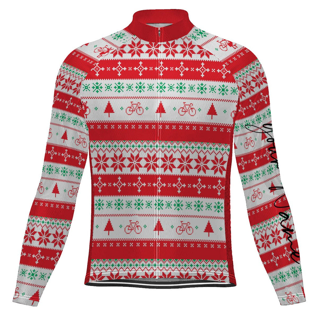 Customized Christmas Winter Thermal Fleece Long Sleeve For Men