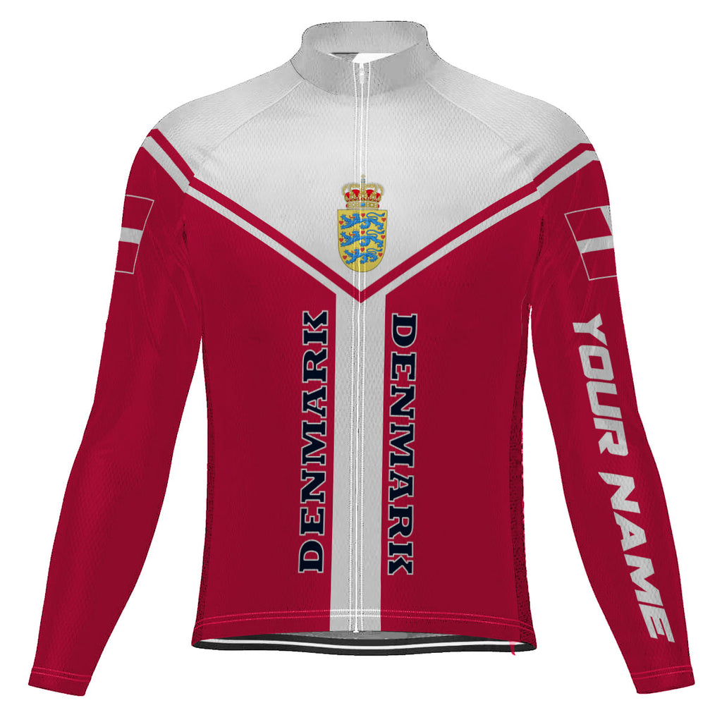 Customized Denmark Long Sleeve Cycling Jersey for Men