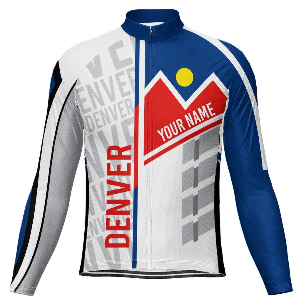 Customized Denver Long Sleeve Cycling Jersey for Men