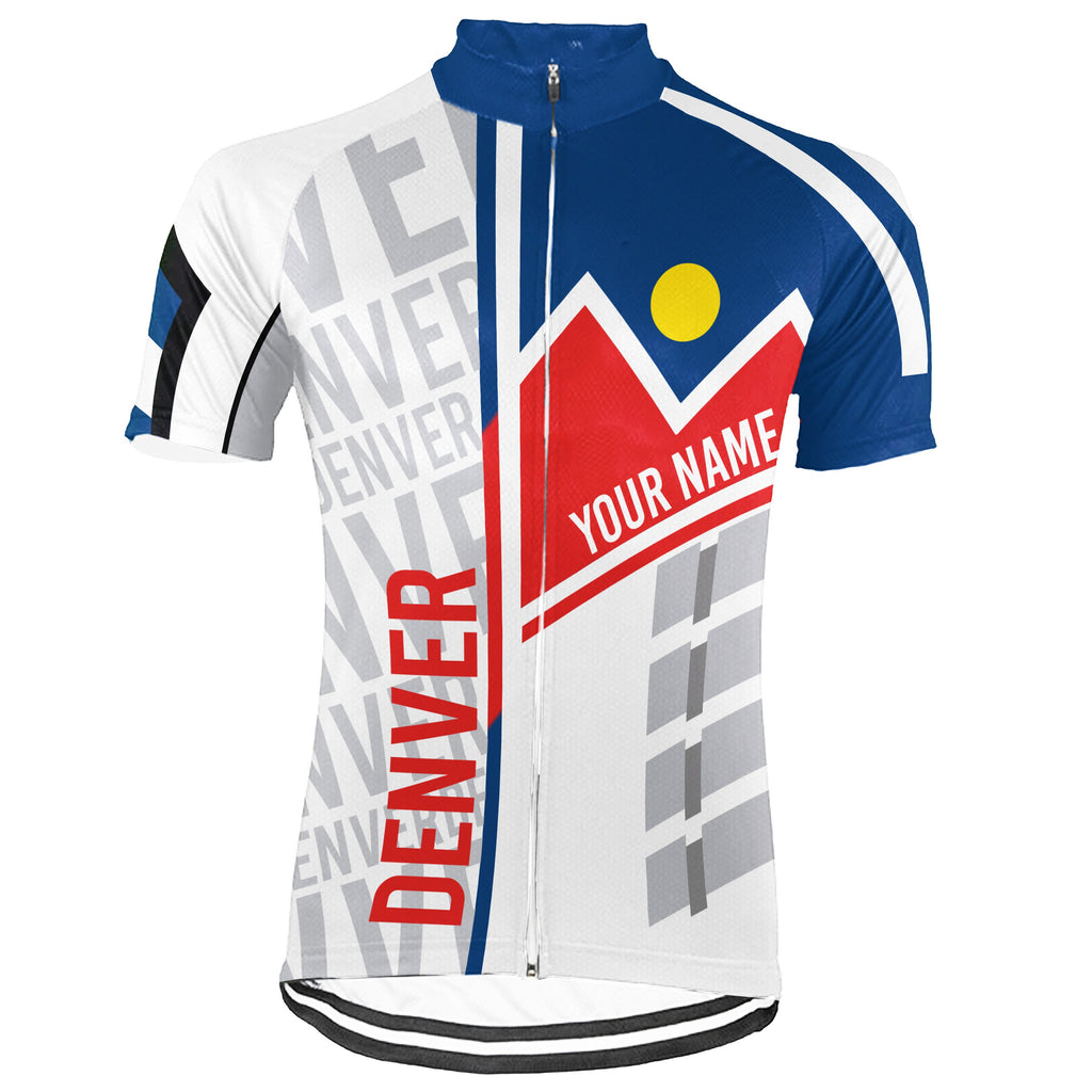 Customized Denver Short Sleeve Cycling Jersey for Men