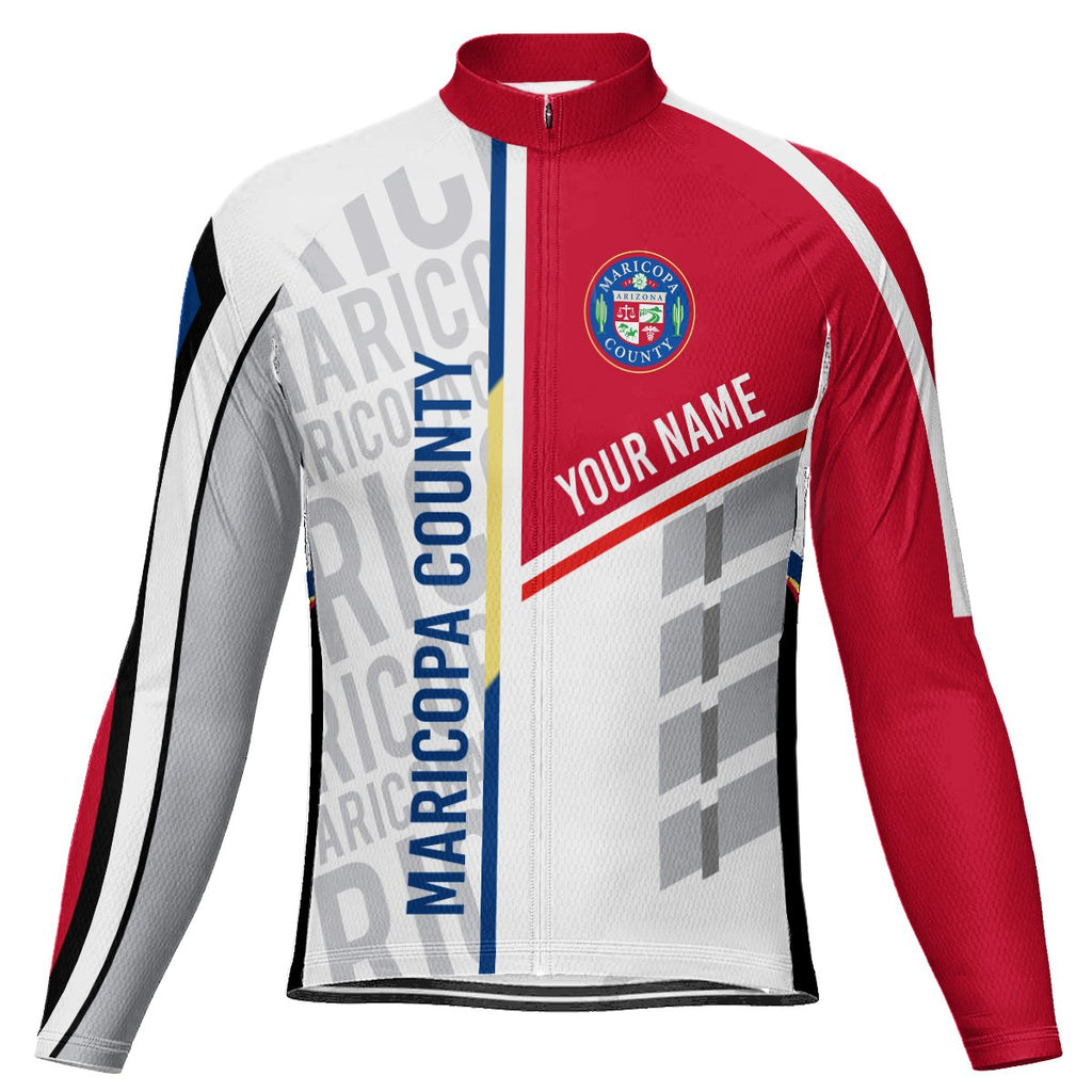 Customized Maricopa County Long Sleeve Cycling Jersey for Men