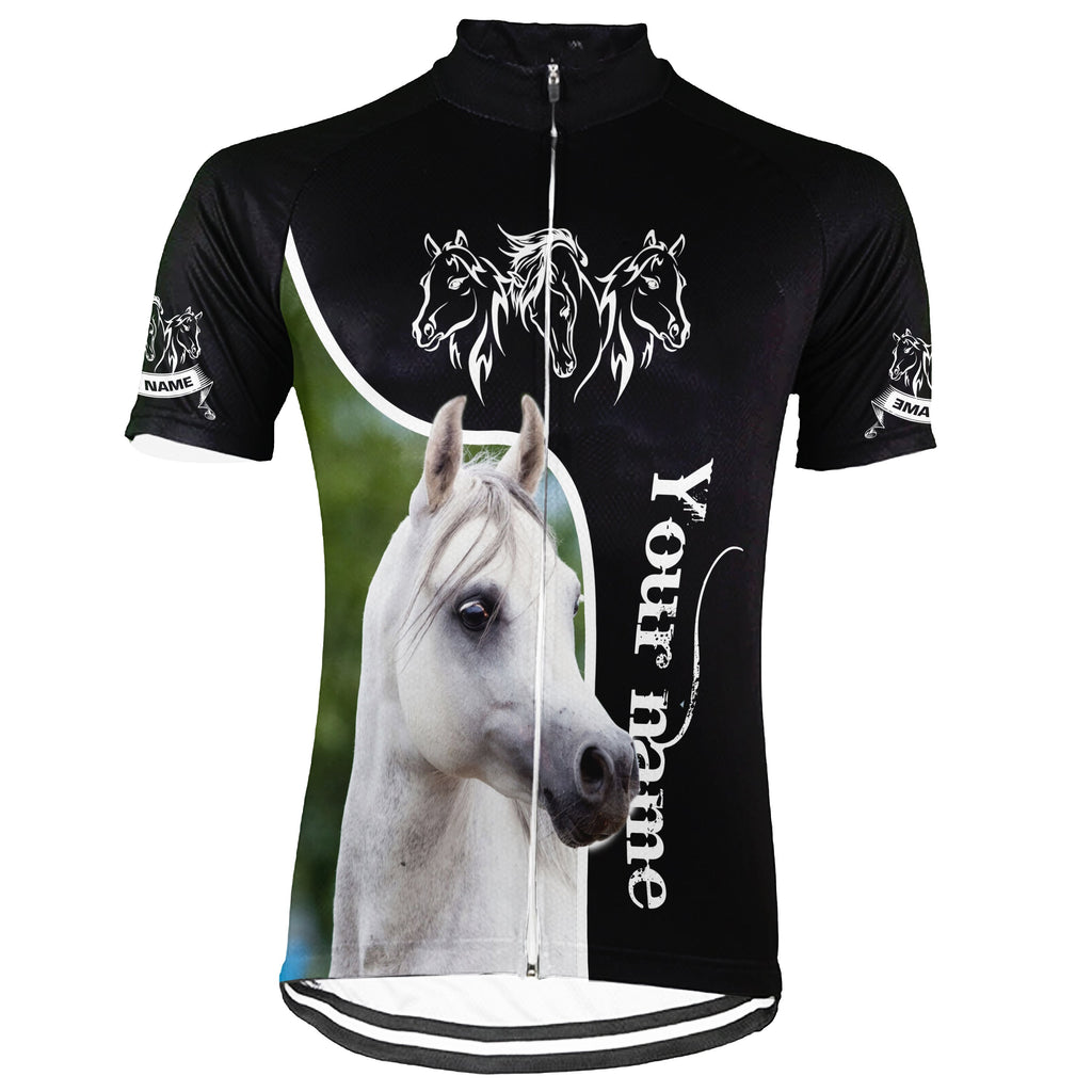 Customized Image Horse Short Sleeve Cycling Jersey for Men