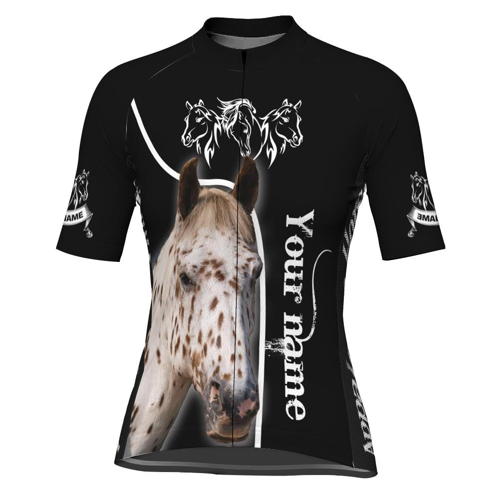 Customized Image Horse Short Sleeve Cycling Jersey for Women