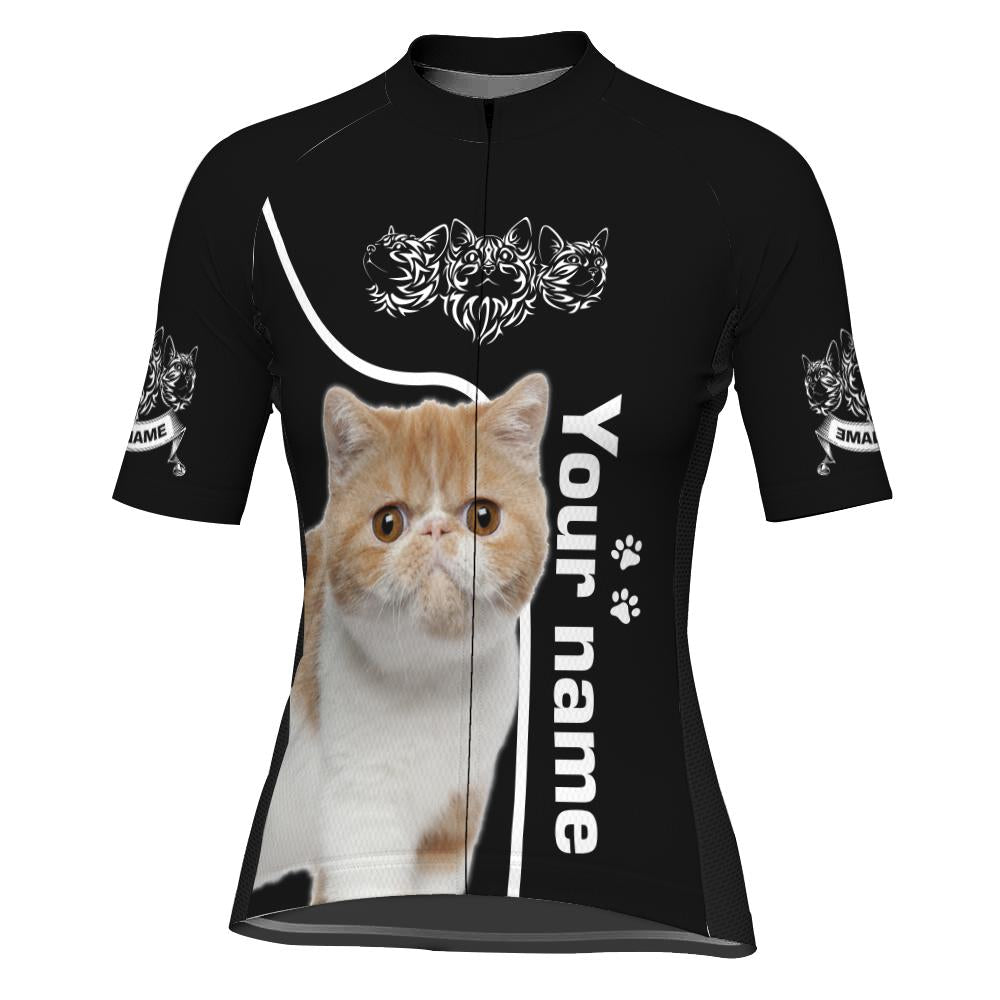 Customized Image Cat Short Sleeve Cycling Jersey for Women