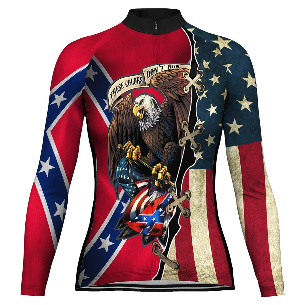 Customized Red Neck Long Sleeve Cycling Jersey for Women