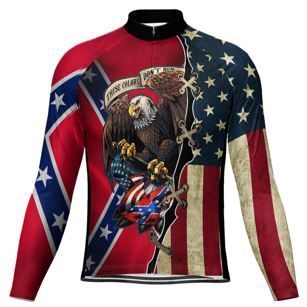 Red Neck Long Sleeve Cycling Jersey for Men