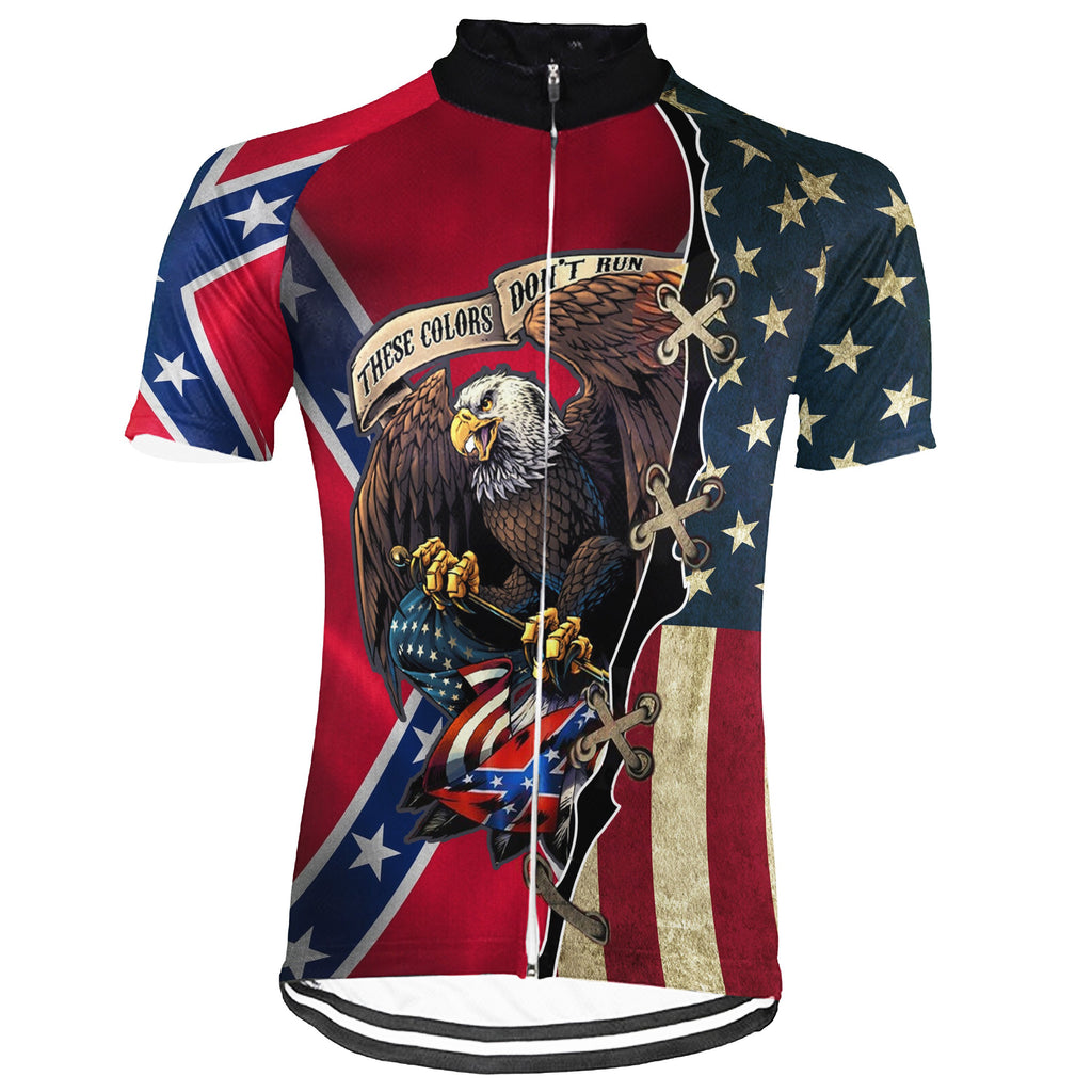 Red Neck Short Sleeve Cycling Jersey for Men