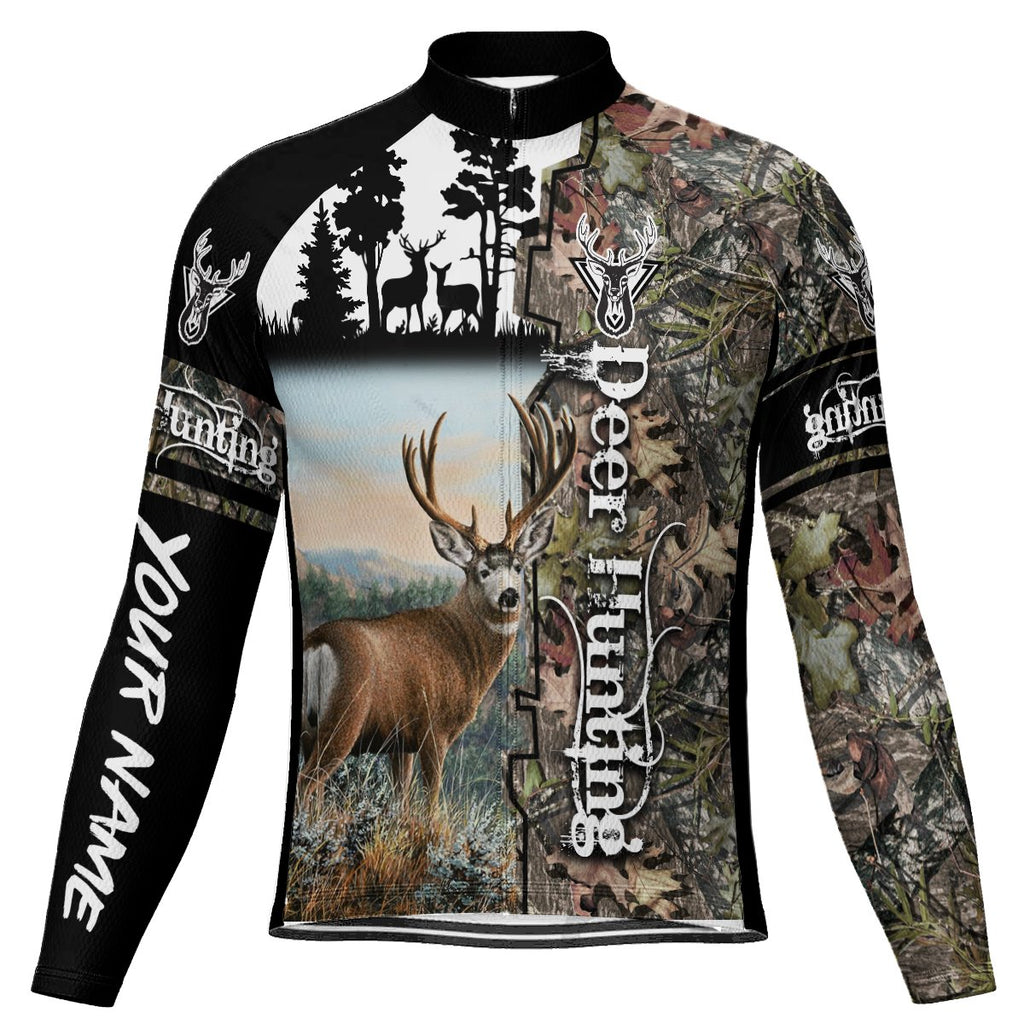 Customized Deer Long Sleeve Cycling Jersey for Men