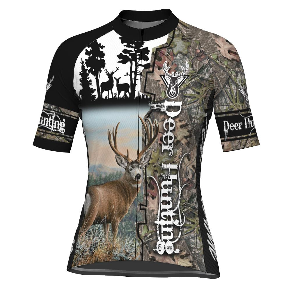 Customized Deer Short Sleeve Cycling Jersey for Women