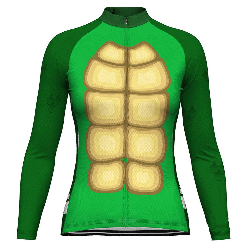 Customized Turtle Long Sleeve Cycling Jersey for Women