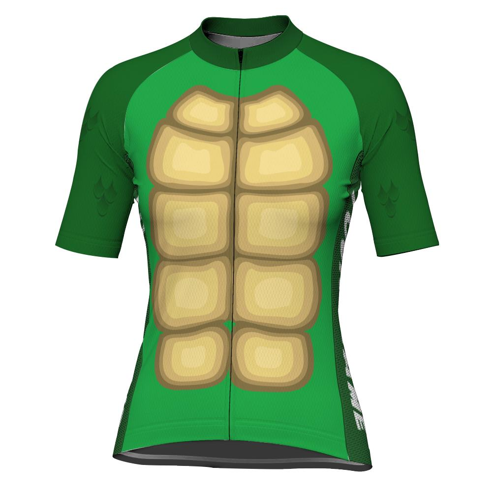 Customized Turtle Short Sleeve Cycling Jersey for Women