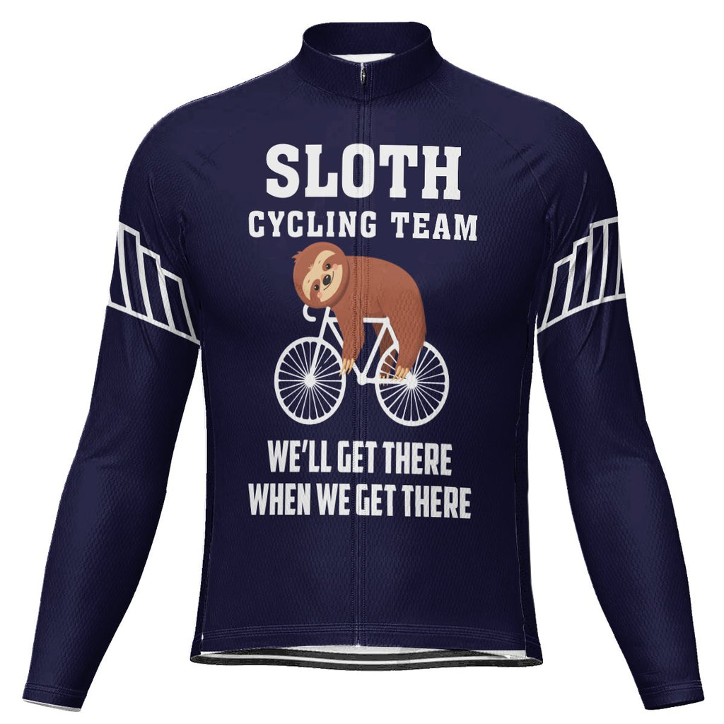 Customized Sloth Long Sleeve Cycling Jersey for Men