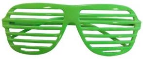 GLASSES 80S SLOT NEON GREEN