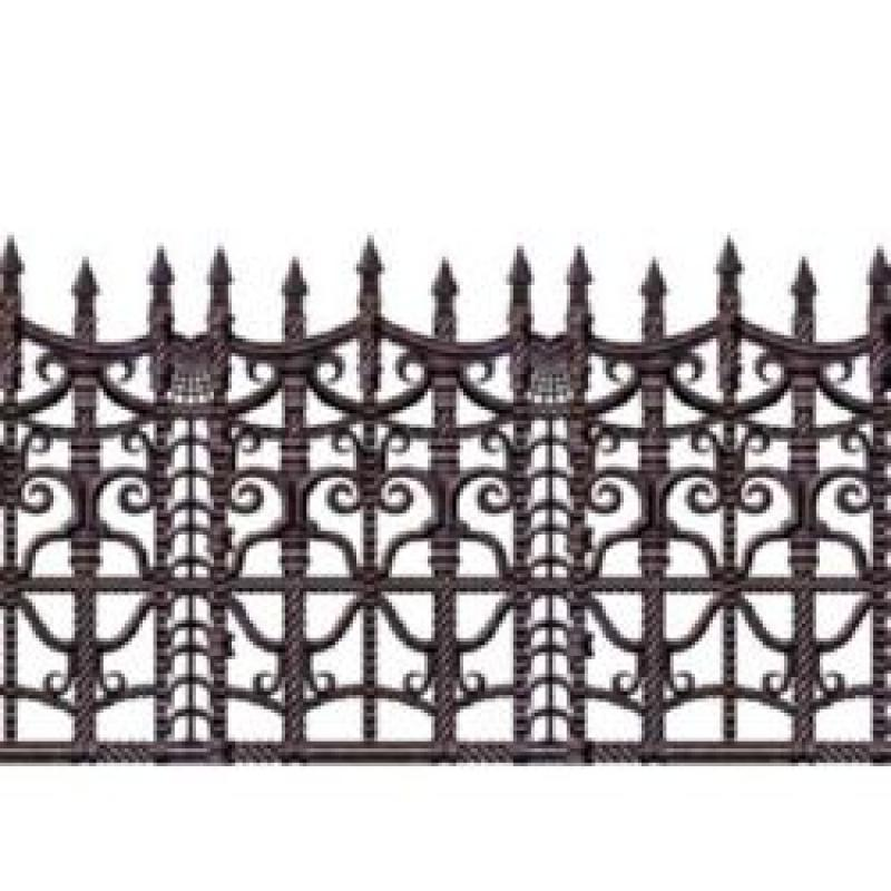 BACKDROP CREEPY FENCE BORDER 9.1M