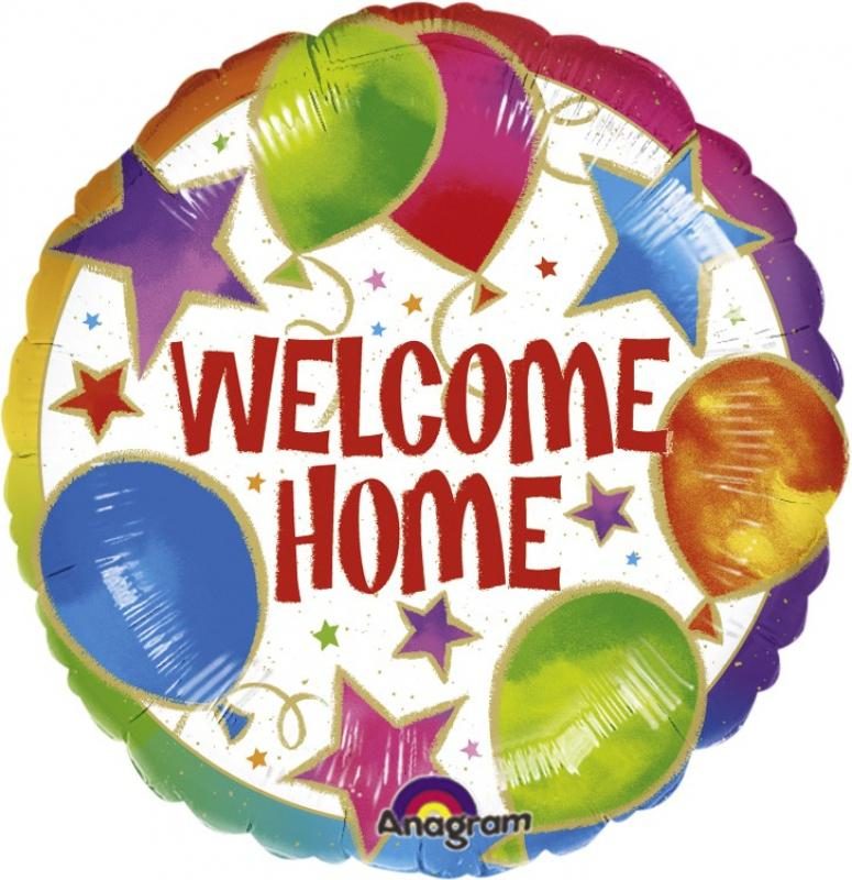 BALLOON FOIL 45CM WELCOME HOME CELEBRATION