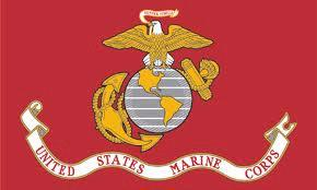 FLAG USA MARINE CORPS RED B/GROUND