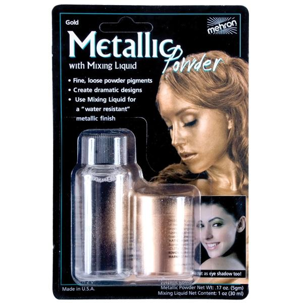 METALLIC POWDER GOLD W/MIXING LIQUID - Discontinued Line