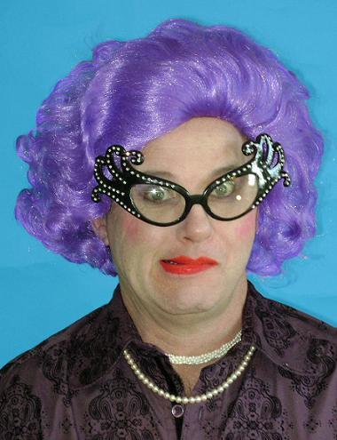 WIG THE DAME (EDNA) PURPLE
