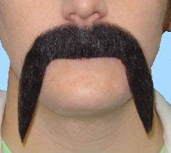 MOUSTACHE MEXICAN BLACK FOOTY REG