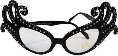 GLASSES DAME EDNA BLACK & DIAMANTE